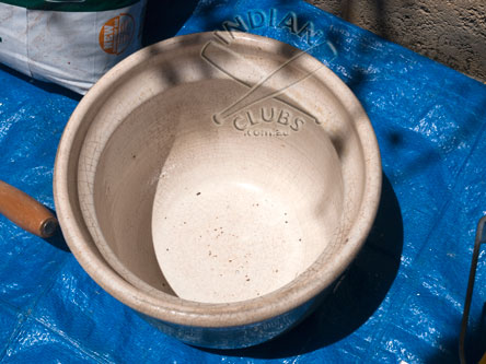 Home made Clay Pot Gada Mace
