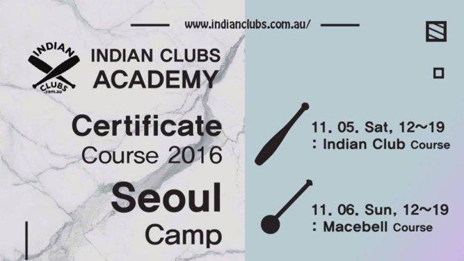 Indian Clubs Macebell workshops Seoul Korea