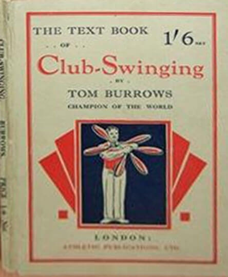 Book cover of Text Book of Club Swinging 1900 by Tom Burrows 6th edition.