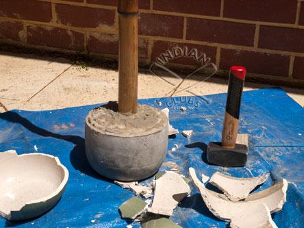 Home made Clay Pot Gada Mace