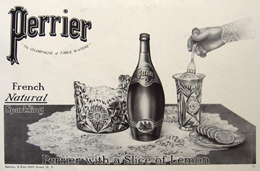 Indian Clubs inspired Perrier bottles