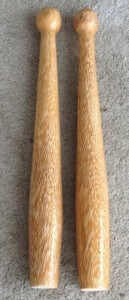 Coconut Clubs low density side after one coat of varnish
