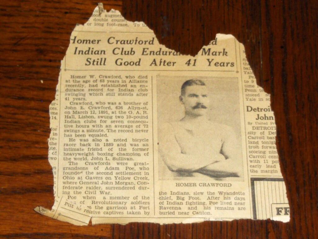 Homer W Crawford Endurance Club Swinger obituary