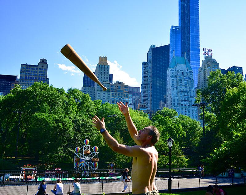 Ron Jones Central Park airborne Meel